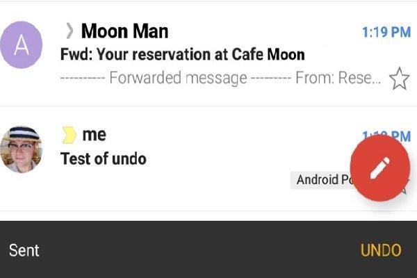 امکان توقف ارسال ایمیل به نسخه اندرویدی جی میل اضافه شد
