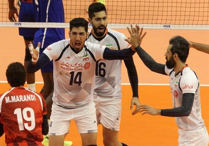 برتری تیم ملی والیبال ایران مقابل کوبا