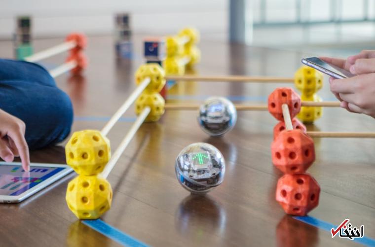 این توپ روباتیک معلم خصوصیتان می گردد ، سیستم نوردهی پیشرفته ، سنسور و ردیاب هوشمند
