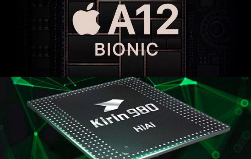 امتیاز بنچمارک تراشه Kirin 980 هواوی پایین تر از A12 اپل است