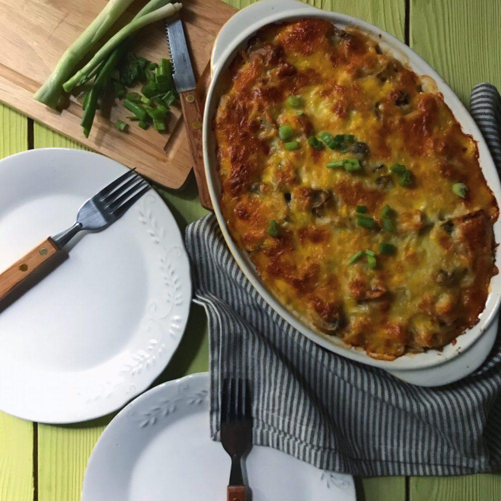 طرز تهیه پاستا پنیری داخل فر