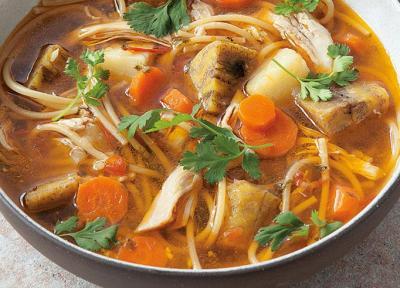 طرز تهیه سوپ سانچوکو