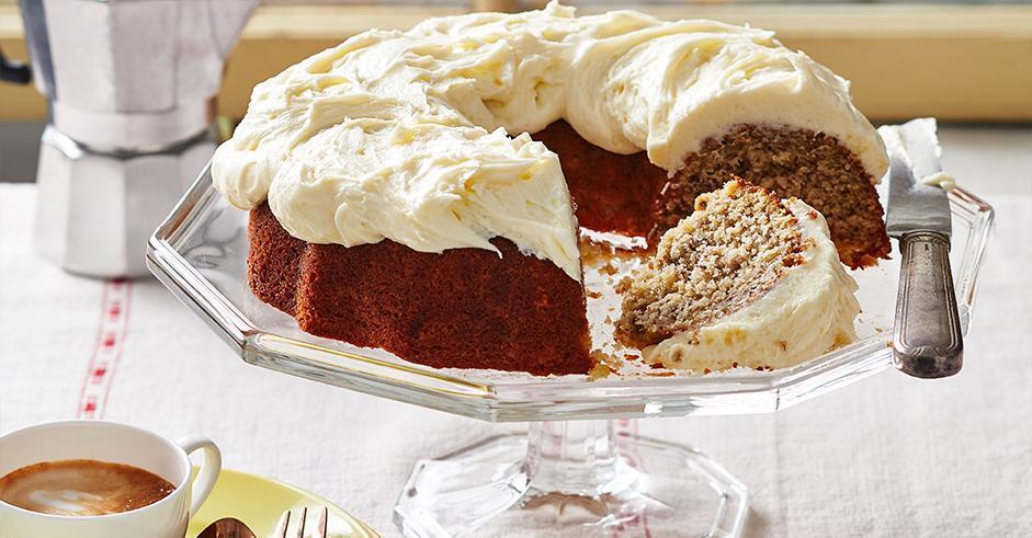 طرز تهیه کیک موزی با پنیر خامه ای
