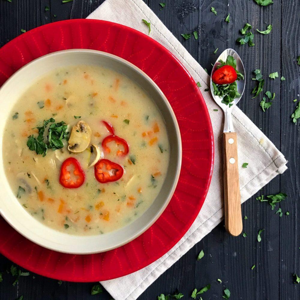 طرز تهیه سوپ سریع جو و سبزیجات