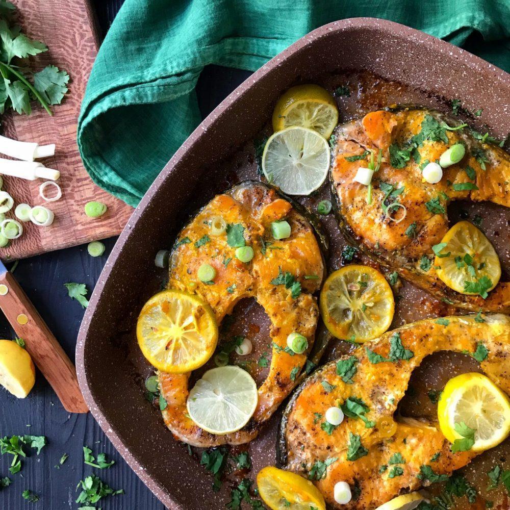 طرز تهیه ماهی سالمون با سس لیمو مرحله به مرحله