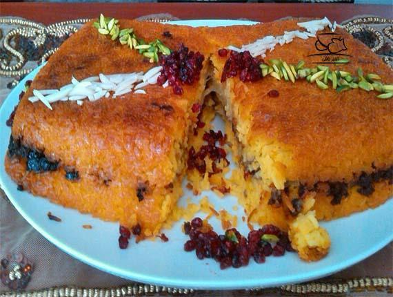 طرز تهیه شیرازی پلو
