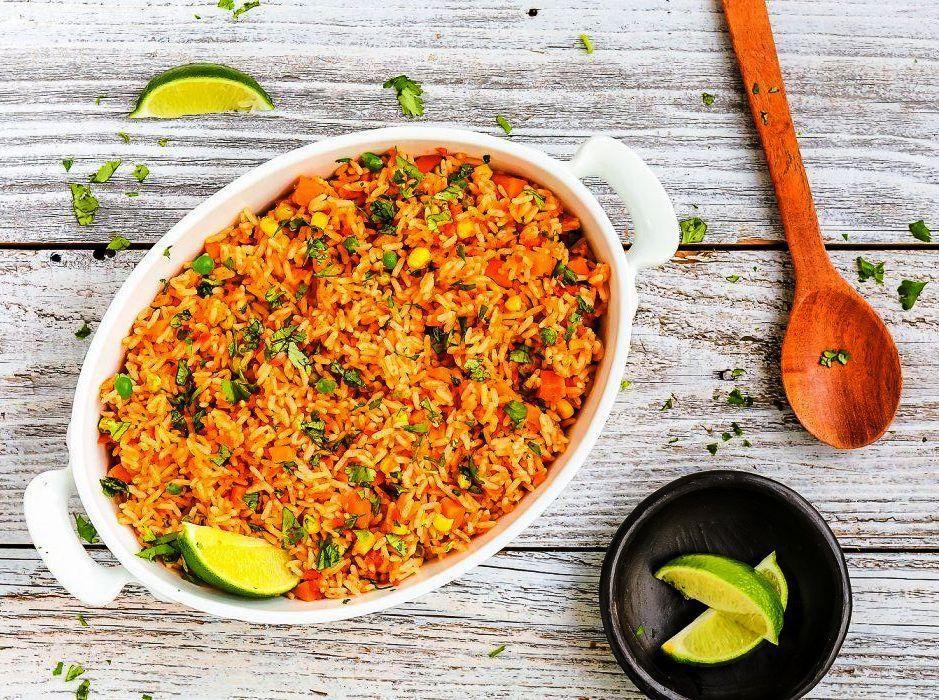 طرز تهیه حرفه ای پلو مکزیکی رستورانی ؛ یک پلو ساده و خوشمزه