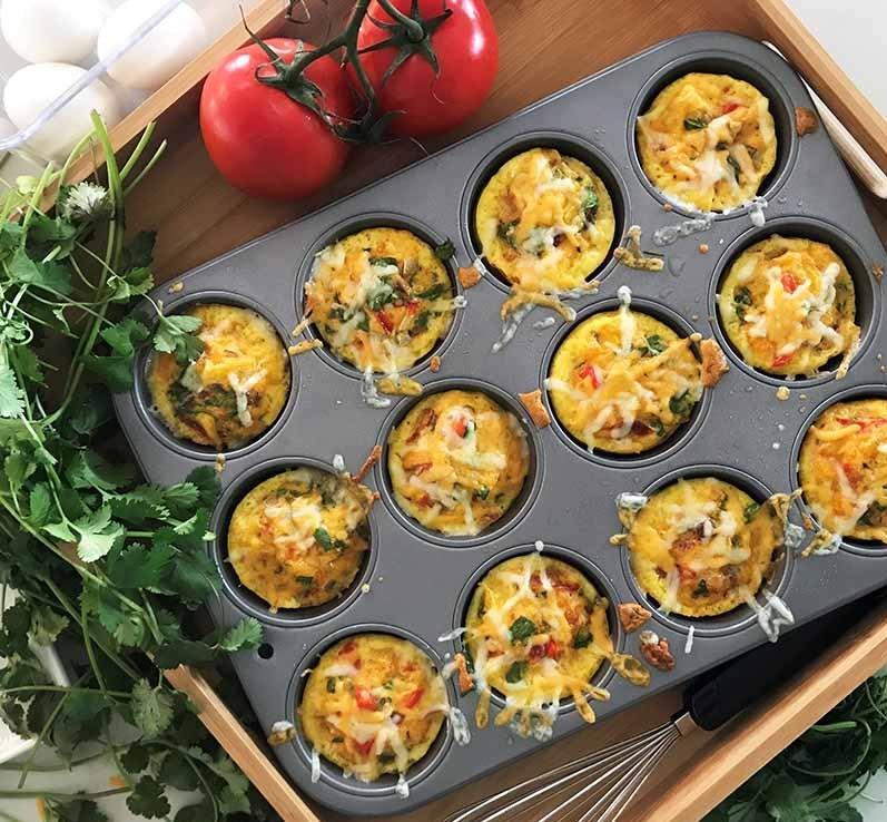 طرز تهیه مافین تخم مرغی کتویی ؛ یک صبحانه خوشمزه برای دیابتی ها