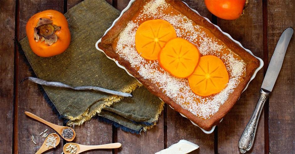 طرز تهیه کیک خیس خرمالو