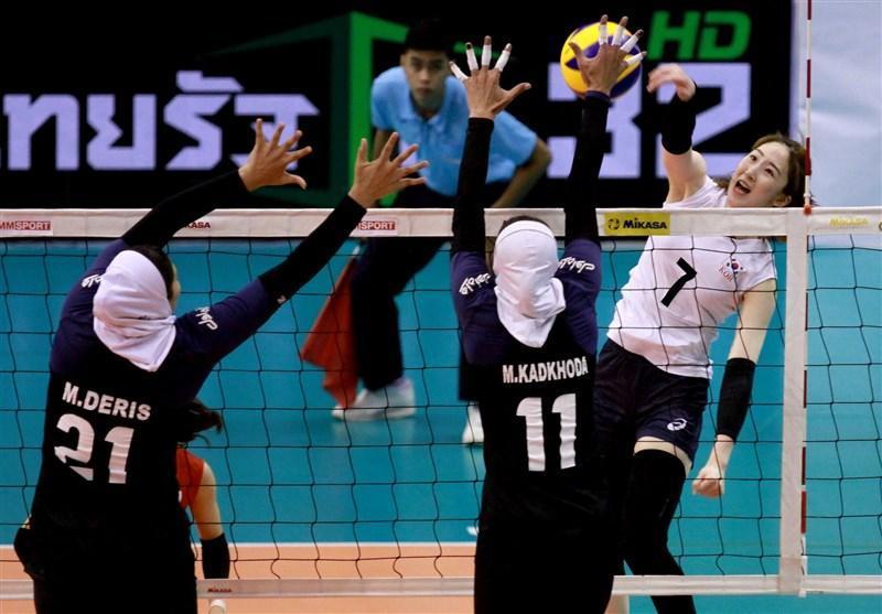 جام والیبال کنفدراسیون آسیا، بانوان ایران مغلوب کره ای ها شدند، عنوان پنجمی پرید