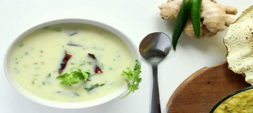 طرز تهیه سوپ ماست گوجراتی