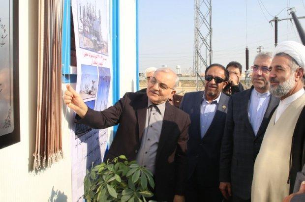 نیروگاه 6 مگاواتی برق در قم افتتاح شد