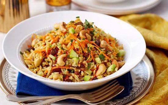 دستور تهیه سالاد برنج هندی