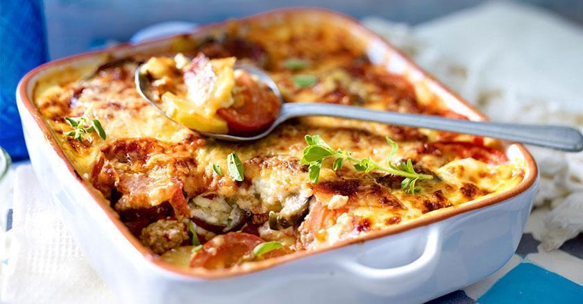 طرز تهیه موساکا با پنیر موزارلا