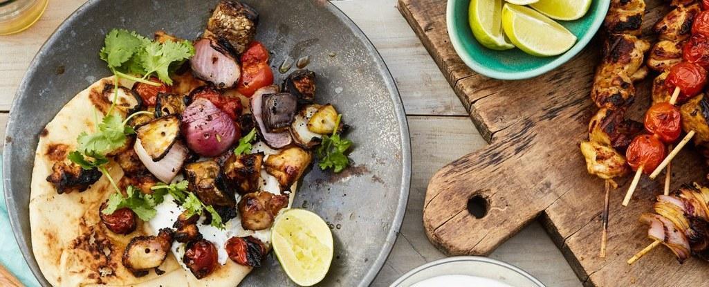 طرز تهیه 5 نوع از بهترین کباب های مرغ با سبزیجات به سبک کشورهای مختلف