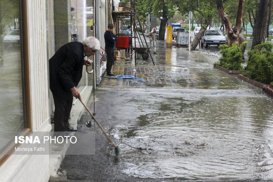 بارش شدید باران در 12 استان