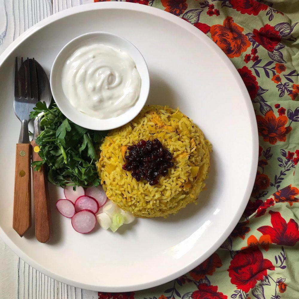 طرز تهیه پلو مرغ و ترخون مناسب ماه رمضان