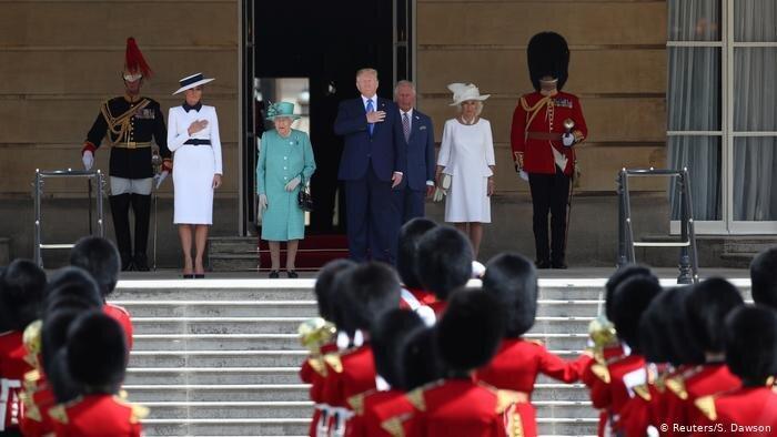 گزارش ماجراهای سفر ترامپ به بریتانیا