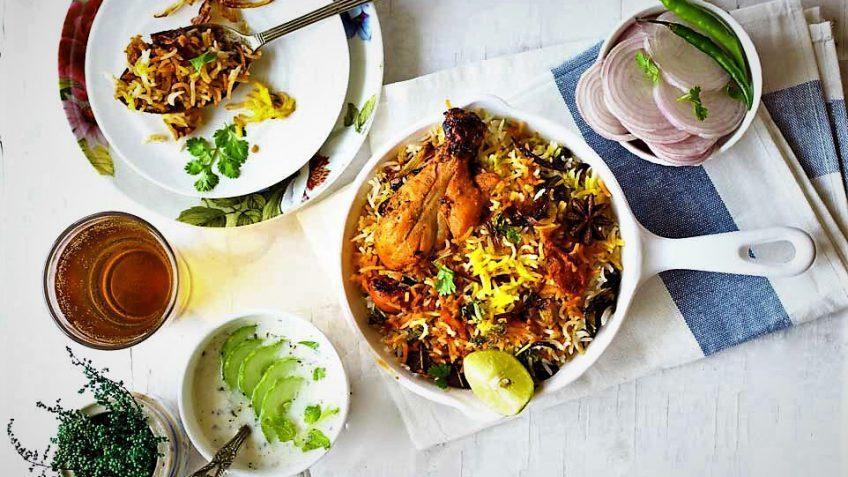 طرز تهیه بریانی مرغ کویتی مخصوص شام