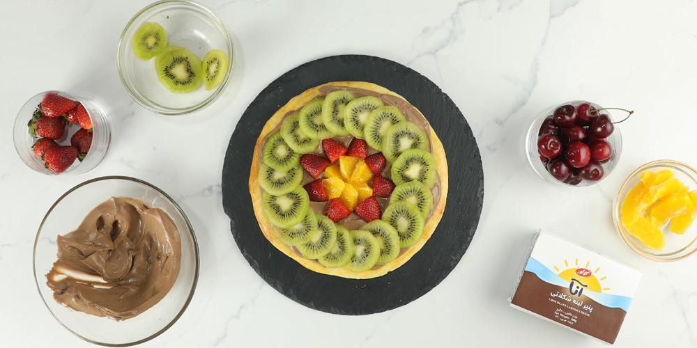 طرز تهیه پیتزا میوه ای خنک و خوشمزه