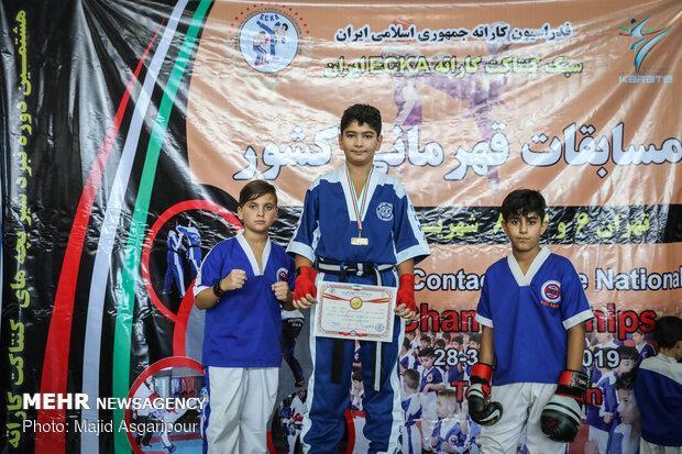 نفرات برتر مسابقات کنتاکت کاراته قهرمانی کشور معرفی شدند