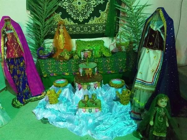 نمایشگاه صنایع دستی و غذاهای محلی در روستای قلنداران بستک برگزار گردید
