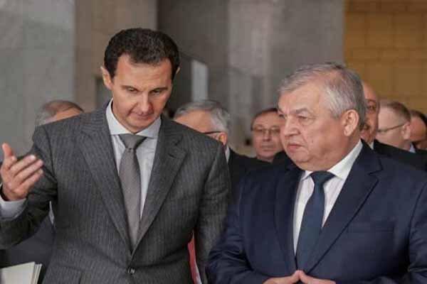 رایزنی رئیس جمهور سوریه با فرستاده پوتین و معاون وزیر خارجه روسیه