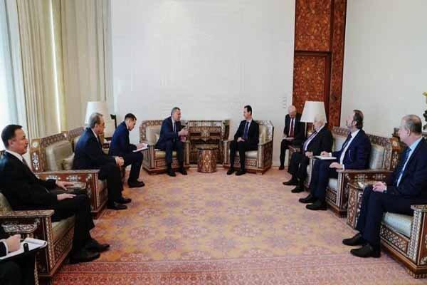 رایزنی بشار اسد با معاون نخست وزیر روسیه در دمشق
