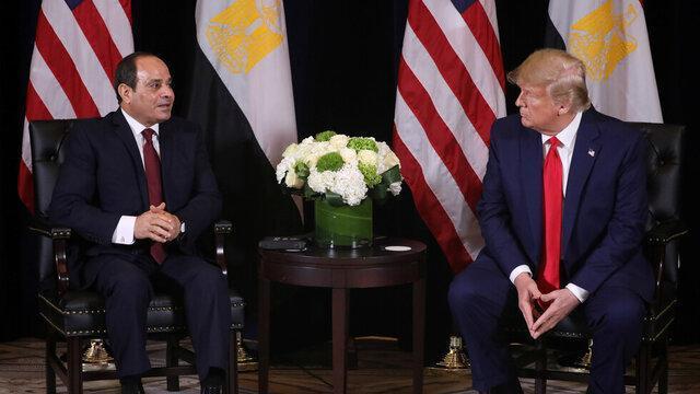 سیسی و ترامپ بر لزوم توقف مداخلات خارجی در لیبی تاکید کردند