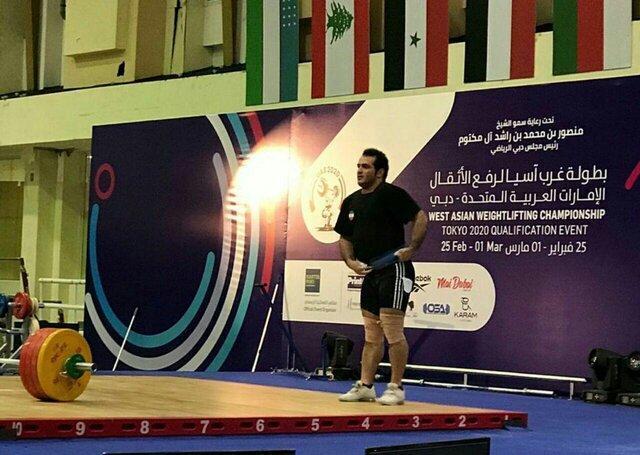 رکورد 370 کیلوگرمی سهراب مرادی در مسابقات غرب آسیا، کسب 803 امتیاز برای المپیک