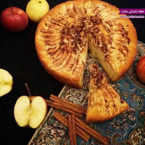 طرز تهیه کیک سیب و دارچین خوشمزه
