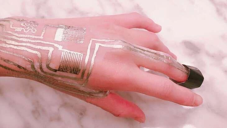 چاپ مستقیم مدارات پوشیدنی روی پوست