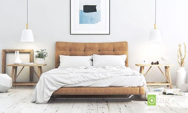 دکوراسیون اتاق خواب به سبک اسکاندیناویایی ، عکس 2016