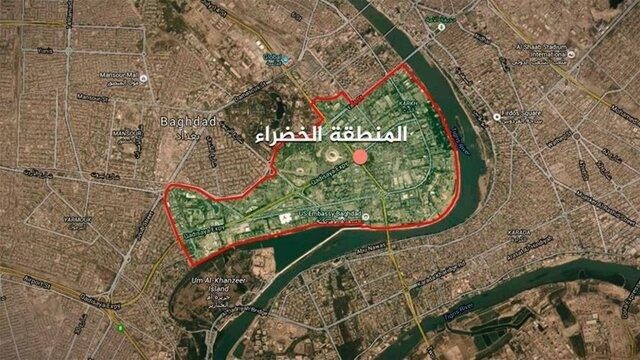 منطقه سبز بغداد هدف حمله موشکی قرار گرفت