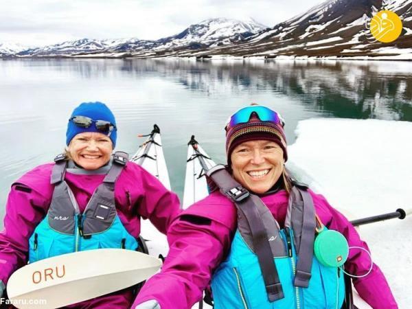 (تصاویر) ماجرای یک سال اقامت دو زن تنها در قطب شمال