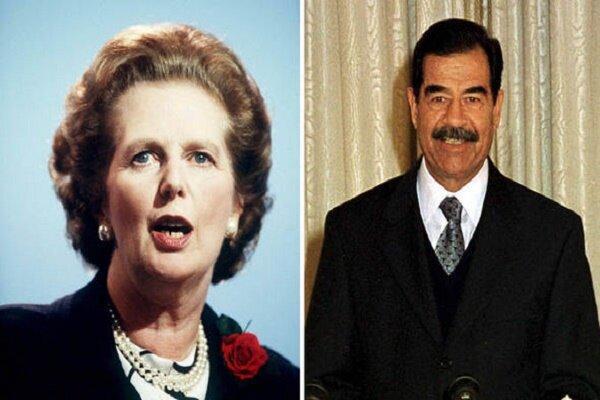سکوت مارگارت تاچر در برابر صدام به دلیل قراردادهای تسلیحاتی