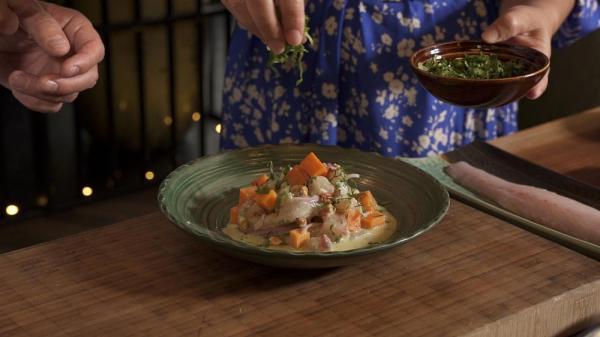 طرز تهیه سویچه: سویچه دریاییِ سرآشپز سندوال در رستوران غذاهای آمریکای لاتین