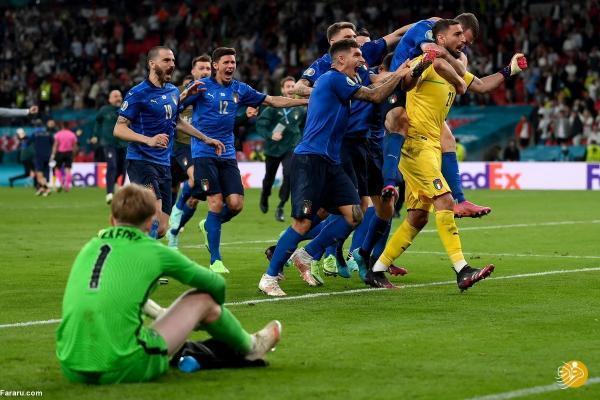 خلاصه بازی ایتالیا 1 (3) ، (2) 1 انگلیس؛ قهرمانی آتزوری